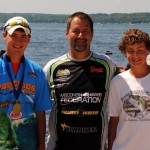 2011 Wisconsin Bass Federation Junior State Champions, Kyler Chelminiak 15-18 Age Division, Federation President Mike Simonds and Dante Cirillo 11-14 Age Division. Both will be competing at the 2012 National Guard Junior World Championship in August in Gainesville, Georgia.